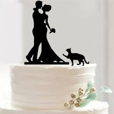 cat cake topper pretty and groom cat cake toppers wedding