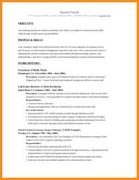 6 writing a resume objective agenda example