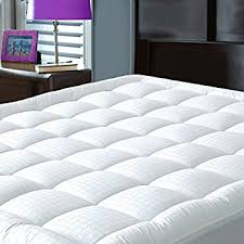 amazon com mattress pad cover queen size pillowtop 300tc down