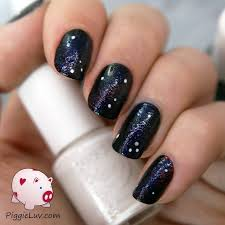 piggieluv galaxy nails with kiss nail art kit