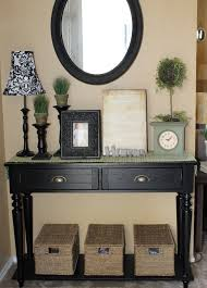 Black Foyer Table Decor For Entryway Table Coryc Me