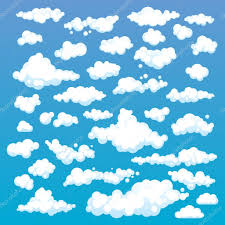 blue pattern background html cartoon clouds set on blue sky background set of funny cartoon