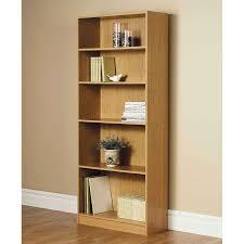 Mainstays 5 Shelf Bookcase Alder Orion Wide 5 Shelf Standard Bookcase Multiple Finishes Walmart Com