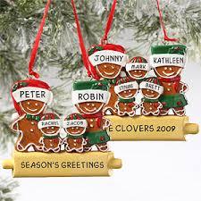 custom gingerbread family ornament 5 names mall