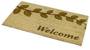 Outdoor Coir Doormats Jvl Pvc Backed Coir Doormat Indoor Outdoor Welcome Home Garden