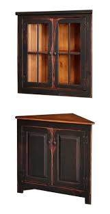 corner kitchen hutch furniture 87 best amish corner hutches images on corner hutch