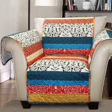 amazon com lush decor boho stripe slipcover furniture protector