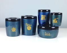 vintage west bend canister set metal storage by retroamyo on etsy
