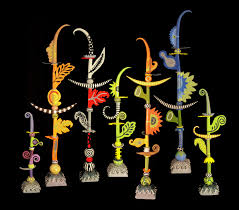 i love leslie codina u0027s whimsical ceramic totems i made a glass