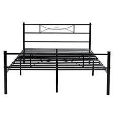 amazon com metal bed frame full size yanni 10 legs mattress
