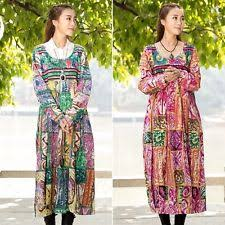 cotton long sleeve casual tall size maxi dresses for women ebay