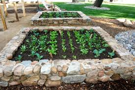 How To Build A Rock Garden Bed Building Raised Garden Beds With Rocks Home Outdoor Decoration