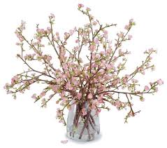 artificial flower arrangements large quince arrangement transitional artificial flower