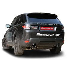 land rover sport performance sport exhaust for range rover sport mk2 tdv8 range