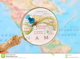 Panama City Map Looking In On Panama City Central America Stock Photo Image