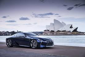 lexus sports car blue lexus lf lc blue concept revealed in sydney