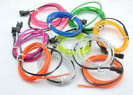 Led Strip Lights Battery Powered El Strip 5m Flexible Neon Light Glow El Wire Tube Strip Wire