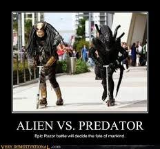 Funny Alien Meme - alien vs predator very demotivational demotivational posters