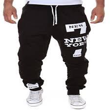 men jogger trousers male pants new york pant printing baggy loose