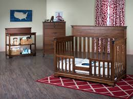 Graco Lauren Signature Convertible Crib Rustic Cherry by Cherry Wood Crib Earth Tone Cherry Wood Dresser 4in1 Convertible