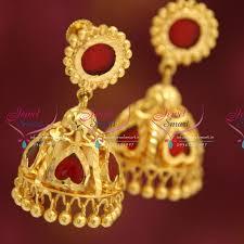 kerala earrings j4205 kerala palakkai design back lock real look jhumka