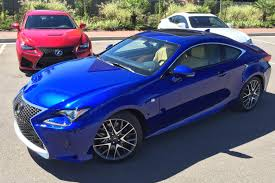 lexus sports car blue 2015 lexus rc 350 and rc f autoworldtoday