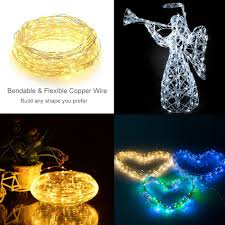 Starry String Lights On Copper Wire by 200 Leds Waterproof Solar Powered Starry String Copper Wire Fairy
