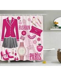 Fashion Shower Curtain Huge Deal On Girly Decor Shower Curtain Fashion Theme In Paris