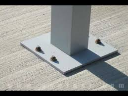 Pergola Post Anchor by Attaching A Pedestal To Concrete Using Wedge Anchors Youtube