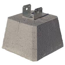 concrete pier block with metal bracket 8053112 the home depot