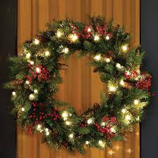 celebrate a cordless with this led wreath that goes