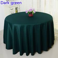 banquet table linens wholesale dark green colour wedding table cover table cloth polyester table