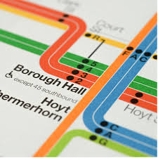 Nyc Subway Map Poster by News Official 2012 Vignelli New York Subway Transit Maps