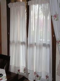 tende con drappeggio tende a vetro arricciate con doppia increspatura tende da