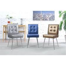 Brookline Tufted Dining Chair Dining Chairs Ave Six Amity Sizzle Azure Fabric Tufted Dining