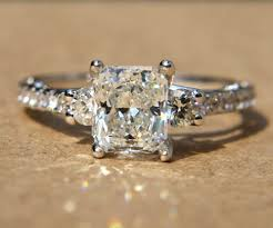 radiant cut engagement rings certified 1 90 carats radiant cut engagement ring