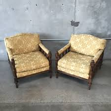 set of two hollywood regency club chairs by american of