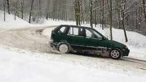 subaru drift snow subaru justy snow drift youtube