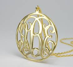 monogram necklace pendant custom monogram necklace gold circle pendant necklace unique