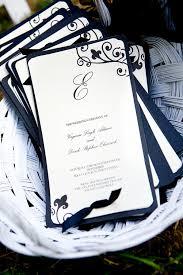 black and white wedding programs virginia derek swan house beautiful wedding