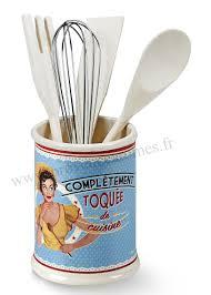 pot à ustensiles de cuisine pot à ustensiles toquée de cuisine natives déco rétro vintage