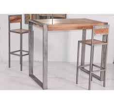 table snack cuisine exceptionnel table haute cuisine m tal loft chaise bois bar but