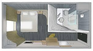 dessin en perspective d une chambre studio norguet design okko hôtel perspective nantes et studios