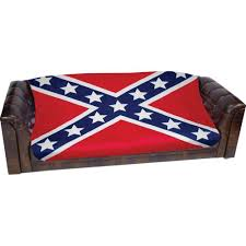 rebel flag print fleece throw blanket