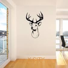 online get cheap giant wall stickers aliexpress com alibaba group stags head deer trophy antlers steer giant wall sticker vinyl art decal stencil window door room