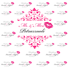 custom backdrops pink wedding step and repeat banner wedding backdrop