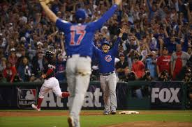 Chicago Cubs Flags Chicago Cubs Win World Series Championship With 8 7 Victory Over