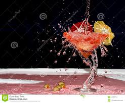 red martini splash splashed red martini stock photo image 54823314