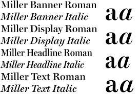 font bureau fonts miller text from font bureau webtype
