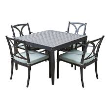 Bliss Patio Furniture Shop Rst Brands Astoria 5 Piece Charcoal Aluminum Patio Dining Set